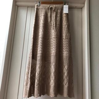 LOWRYS FARM - 今期ローリーズファーム 透かし編みニットスカート
