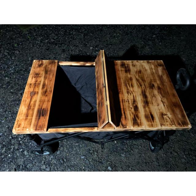 Snow Peak(スノーピーク)のキャリーコンテナ専用 木製オリジナル天板 スポーツ/アウトドアのアウトドア(テーブル/チェア)の商品写真