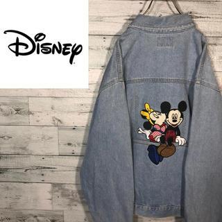 Disney - 【超激レア】ディズニー☆刺繍ミッキーミニーデニムジャケット M0636