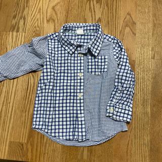 ギャップ(GAP)のgap チェックのシャツ 18-24m 男の子 80(シャツ/カットソー)