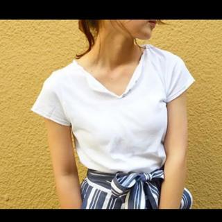 アングリッド(Ungrid)のviaJヘンリーネック ティーシャツ(Tシャツ/カットソー(半袖/袖なし))