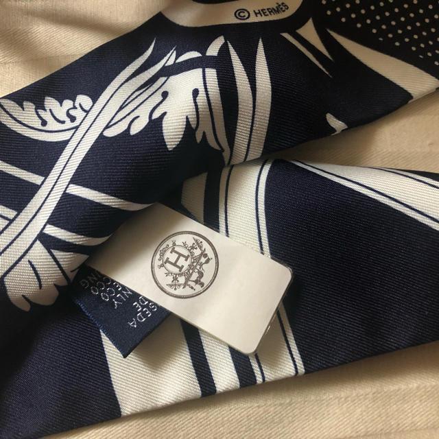 Hermes(エルメス)の新作 2019 エルメス ツイリー  ツィリー  カレ ネイビー タグ付き レディースのファッション小物(バンダナ/スカーフ)の商品写真