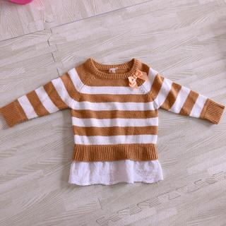 西松屋 - 女の子 ベビー服 キッズ 洋服 80 ニット 長袖 トップス