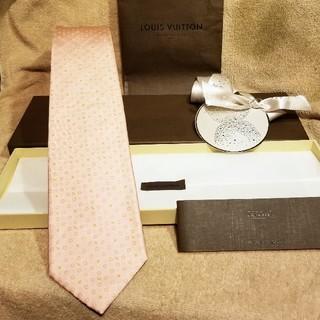 LOUIS VUITTON - ルイヴィトン ネクタイ メンズ ベビーピンク 新品 モノグラム ギフト ヴィトン