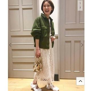 IENA - イエナ♡パネルレースロングスカート 36