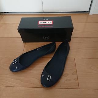 ハンター(HUNTER)のHUNTERレインシューズ6紺×シルバー24.5cm(レインブーツ/長靴)