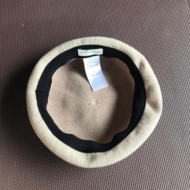 earth music & ecology(アースミュージックアンドエコロジー)の帽子 earth ベージュ ベレー帽 レディースの帽子(ハンチング/ベレー帽)の商品写真