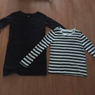 ムジルシリョウヒン(MUJI (無印良品))の無印良品 ロンT、ワンピース(Tシャツ(長袖/七分))