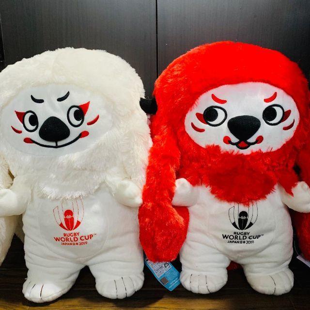 ラグビーワールドカップ 2019 レンジー ぬいぐるみ XL 全2種セット エンタメ/ホビーのおもちゃ/ぬいぐるみ(ぬいぐるみ)の商品写真