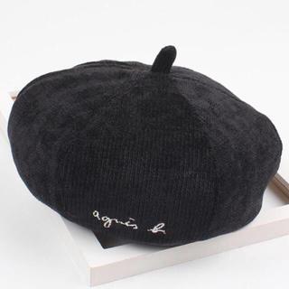 アニエスベー(agnes b.)のアニエスベー パロディキッズベレー帽  【ブラック】新品・未使用 残りわずか❗️(帽子)