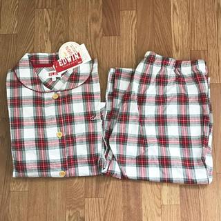 エドウィン(EDWIN)のエドウィン レディースパジャマ 赤チェック XL(パジャマ)
