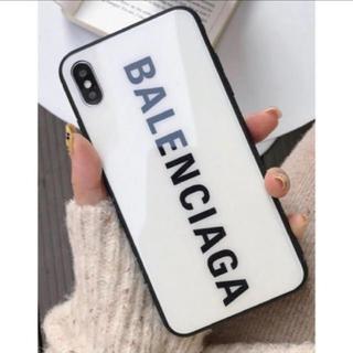 バレンシアガ(Balenciaga)のiphoneXS 白(iPhoneケース)