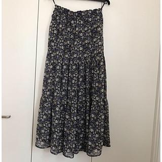 しまむら - 美品 しまむら 小花柄 ロングスカート