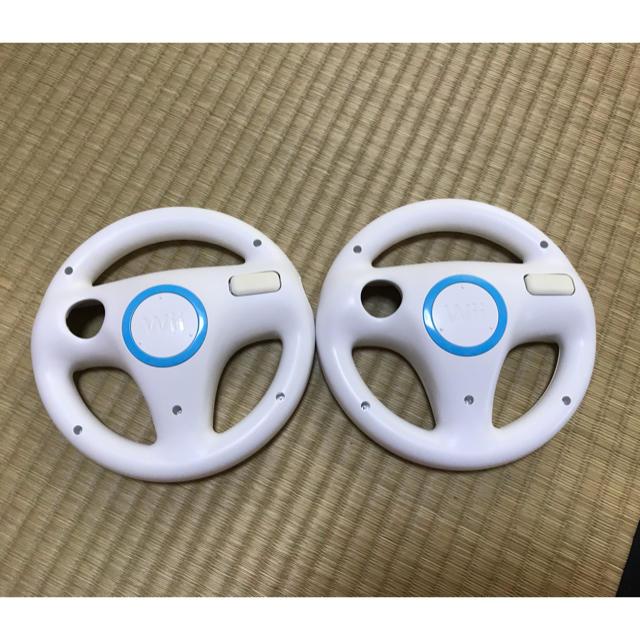 Wii(ウィー)のWii ハンドル エンタメ/ホビーのゲームソフト/ゲーム機本体(家庭用ゲーム機本体)の商品写真