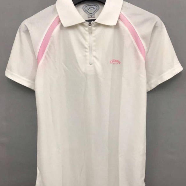Callaway Golf(キャロウェイゴルフ)のキャロウェイ Callaway Golf ウェア 薄手 半袖 ハーフジップ レディースのトップス(ポロシャツ)の商品写真