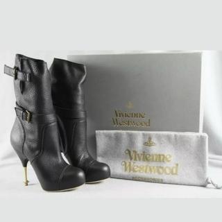 ヴィヴィアンウエストウッド(Vivienne Westwood)のVivienne Westwood♡オーブヒール バイカーブーツ(ブーツ)
