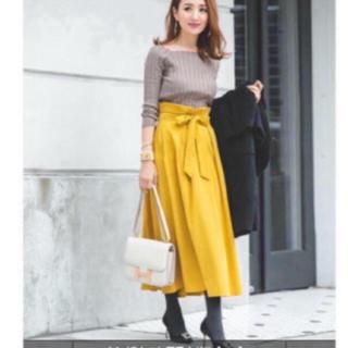 フレイアイディー(FRAY I.D)の新品 グリーン スカート スウェード(ロングスカート)