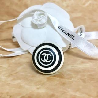 シャネル(CHANEL)の正規品 シャネル 指輪 ボーダー ココマーク 丸 白 黒 ライン 渦巻 リング2(リング(指輪))