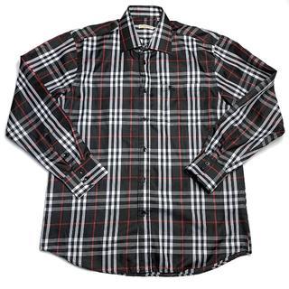 BURBERRY - バーバリーブリット チェックシャツ ネイビー レッド 43