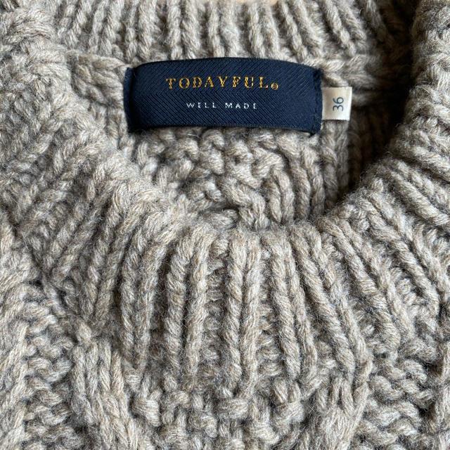 TODAYFUL(トゥデイフル)のTODAYFULウールケーブルニット レディースのトップス(ニット/セーター)の商品写真