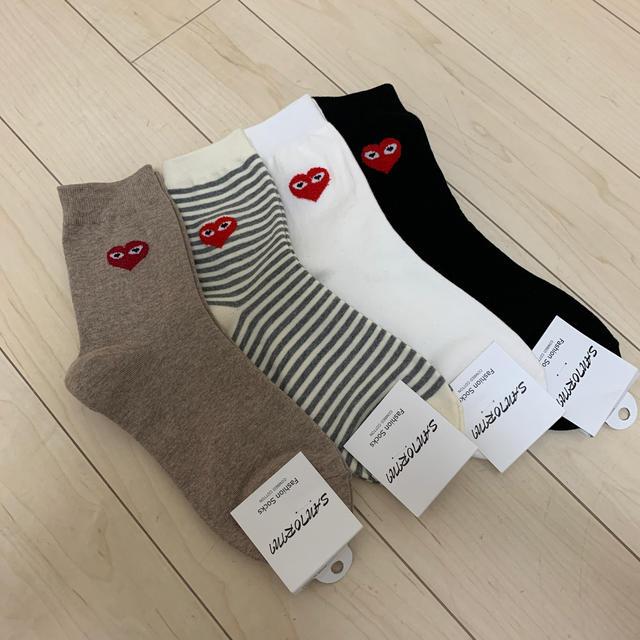 COMME des GARCONS(コムデギャルソン)のレディース ハート❤️靴下 4足セット レディースのレッグウェア(ソックス)の商品写真