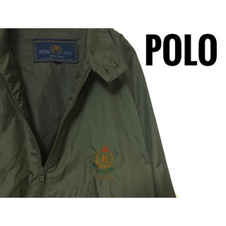POLO RALPH LAUREN - ROYAL POLO ナイロンジャケット 秋色 カーキー