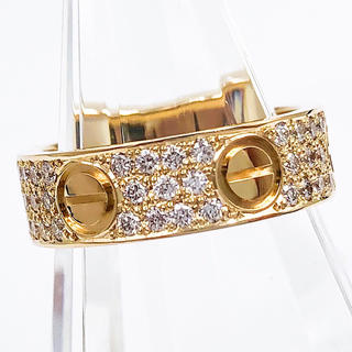 Cartier - 【仕上済】カルティエ ラブリング YG ダイヤ 10号 レディース リング 指輪