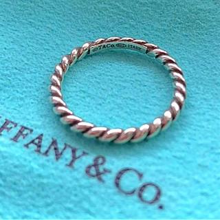 Tiffany & Co. - TIFFANYナローツイストリング  11号
