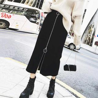 ☆ 即発送❤︎ジッパー付きスカート (ロングスカート)