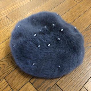 LIP SERVICE - 美品★LIP SERVICE★パール付ふわふわベレー帽