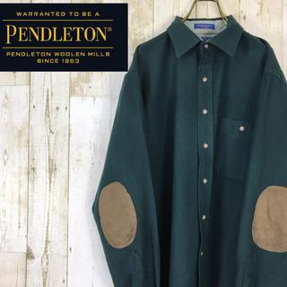 PENDLETON ペンドルトン ウールシャツ エルボーパッチ USA製