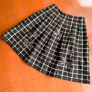 M'S GRACY - エムズグレイシー    チェック&リボン柄フレアスカート