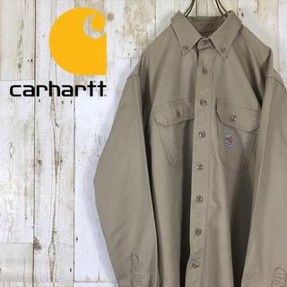 carhartt - 90s カーハート carhartt  ワークシャツ BDシャツ ベージュ