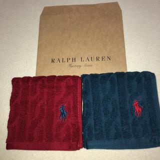 Ralph Lauren - ラルフローレン タオルハンカチ二枚セット
