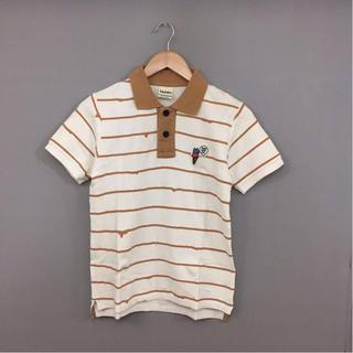 ランドリー(LAUNDRY)のランドリー Laundry ポロシャツ 半袖 ボーダー ホワイト ブラウン(ポロシャツ)