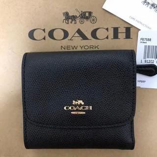 COACH - 新品!コーチ 三つ折り財布 黒