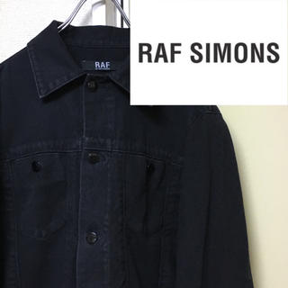 RAF SIMONS - RAF BY RAF SIMONS コットンジャケットデニムジャケット黒 メンズ