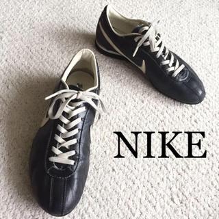 ナイキ(NIKE)のビンテージ vintage NIKE ナイキ レザー スニーカー 黒 紺 セット(スニーカー)