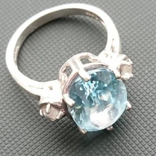 タイ製品 トパーズ ホワイトサファイア リング シルバー925(リング(指輪))