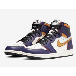 NIKE - Air Jordan1 SB Chicago Lakers レイカーズ