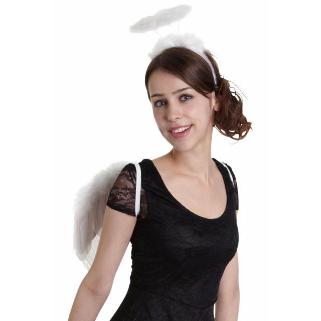 Disney(ディズニー)のハロウィン 天使 エンジェル コスプレ レディース エンタメ/ホビーのコスプレ(衣装)の商品写真