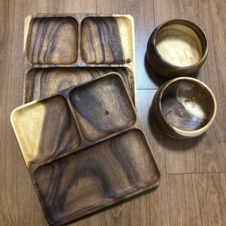 ムジルシリョウヒン(MUJI (無印良品))の無印 アカシア 皿 4点セット(食器)