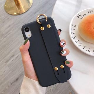iPhone11/X/78ケースアイフォンカバースタンドハンドベルトスマホケース