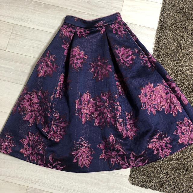 snidel(スナイデル)のスナイデル 花柄スカート レディースのスカート(ひざ丈スカート)の商品写真