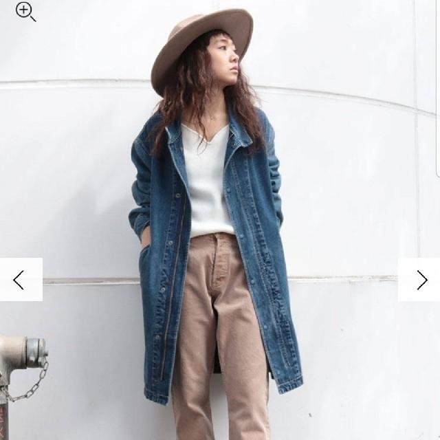 Ungrid(アングリッド)のbu 様専用⭐リメイクデニムミドル丈コート レディースのジャケット/アウター(Gジャン/デニムジャケット)の商品写真