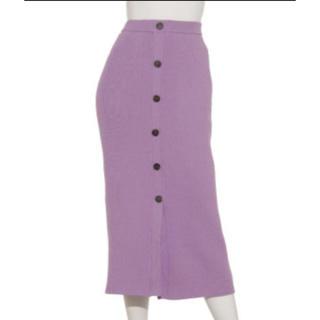 FRAY I.D - フレイアイディー フロントボタンニットスカート