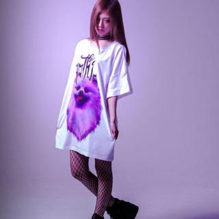 フーガ(FUGA)のTRAVAS TOKYO ポメラニアン BIG Tシャツ ホワイト(Tシャツ/カットソー(半袖/袖なし))