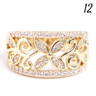 W26 リング 12号 人工石 ホワイトサファイア ゴールド(リング(指輪))