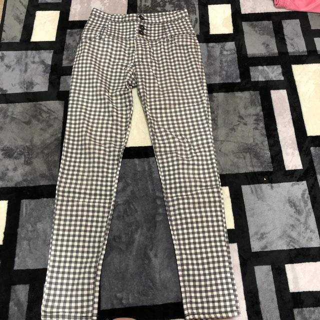 しまむら(シマムラ)のギンガムチェック ハイウエストスキニー レディースのパンツ(スキニーパンツ)の商品写真