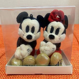 ヨンドシー(4℃)の4℃ Disney ディズニー キーホルダー ぬいぐるみ ミッキー ミニー ペア(キーホルダー)